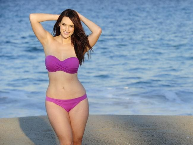 'Plus-size' Aussie model Laura Wells. Photo: John Appleyard.