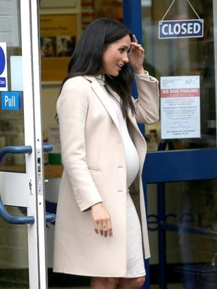 Meghan Markle is due in March. Picture: Trevor Adams/Matrix