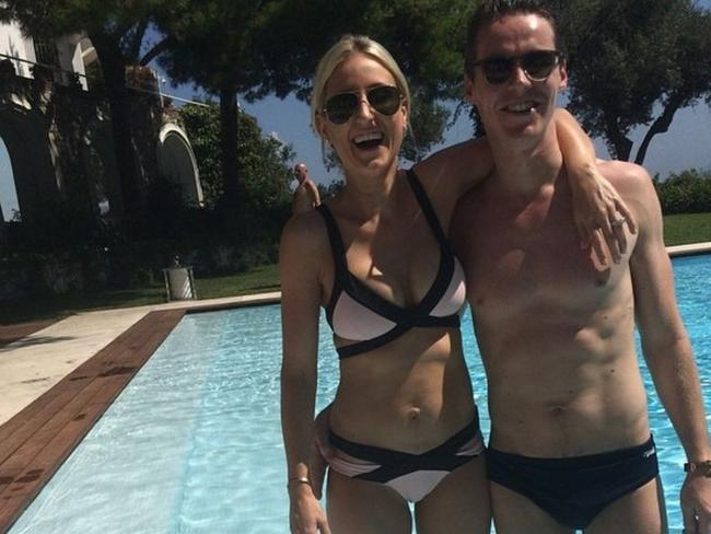 Roxy and husband Oliver Curtis, who is currently in jail after being found guilty of insider trading. Source: Instagram