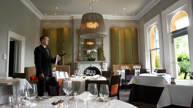 The interiors of Jacques Reymond, the chef's most acclaimed restaurant.