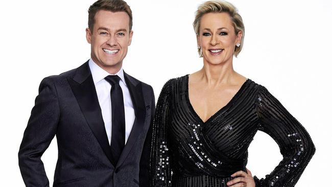 Grant Denyer and Amanda Keller hosted Dancing With The Stars together this year.
