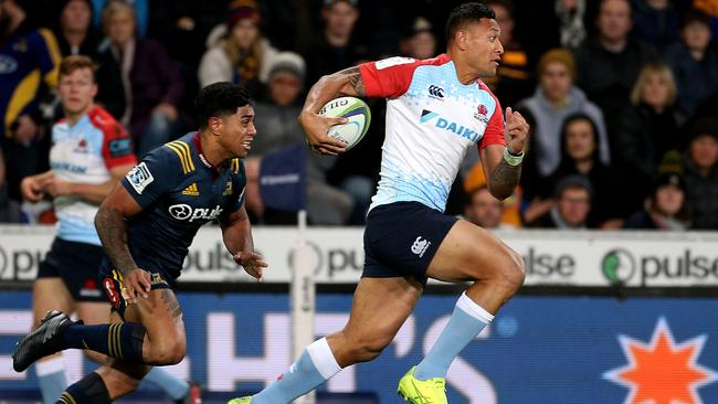 Israel Folau scored a great try but couldn't prevent another heavy Tahs defeat.