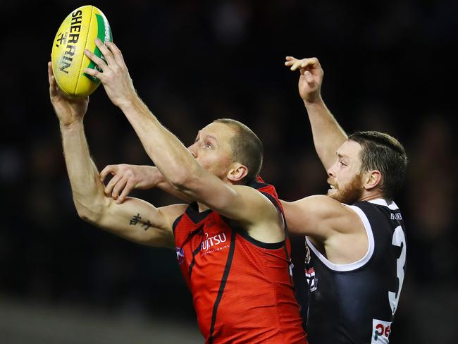 Essendon's James Kelly marks. Pic: Michael Klein