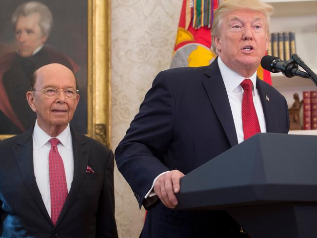 US President Donald Trump's Secretary of Commerce Wilbur Ross (L), has been caught up in the Paradise Papers leak. Picture: Saul Loeb/AFP Photo