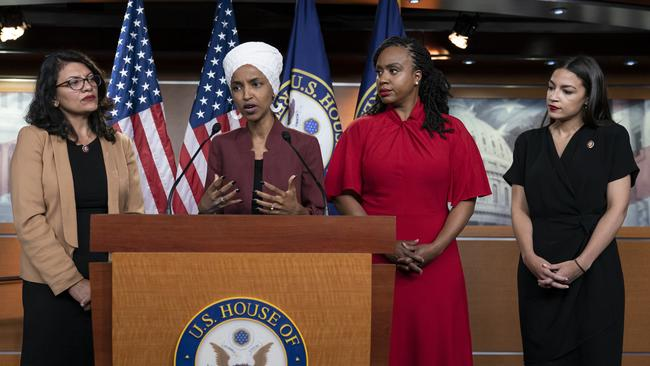 """The impeachment move came after the House voted to condemn Trump's """"racist"""" tweets against four freshman progressive female Democrats. Picture: AP"""