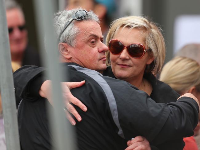 Chris Lane's parents, Peter Lane and Donna Lane. Picture: Scott Barbour/Getty Images