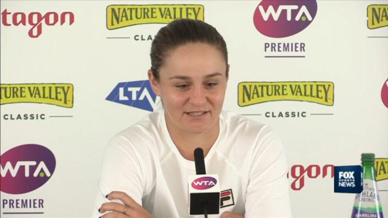 Barty on 'incredible journey'