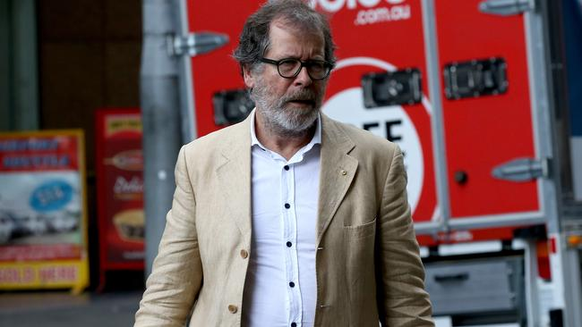 Theatre director Neil Armfield arrives at court. Picture: Toby Zerna