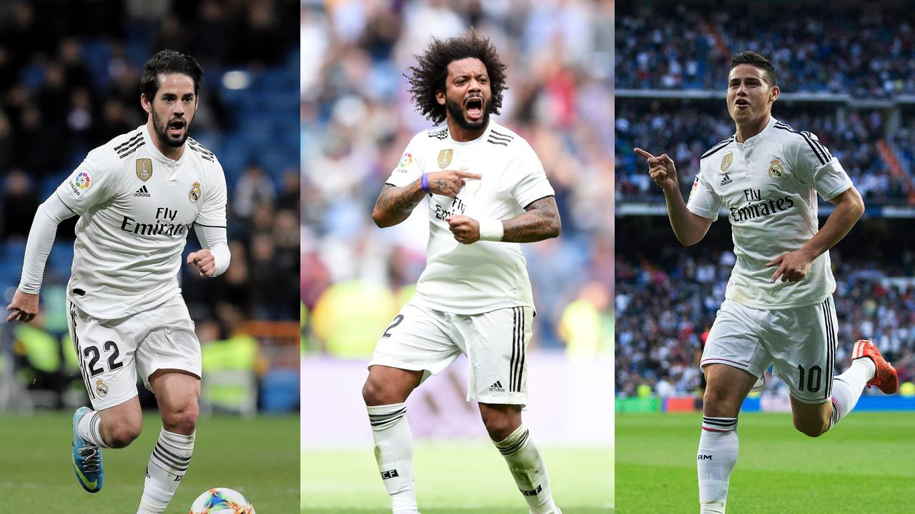 Juventus eye triple swoop for Isco, Marcelo and James Rodriguez