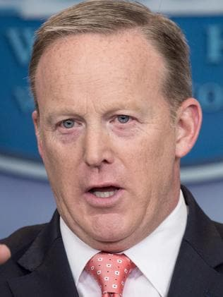 Sean Spicer's tenure as White House press secretary lasted six months. Picture: AFP