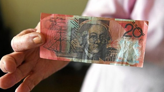 "The notes are marked with Chinese characters that reportedly translate as ""training money"". Picture: NSW Police"