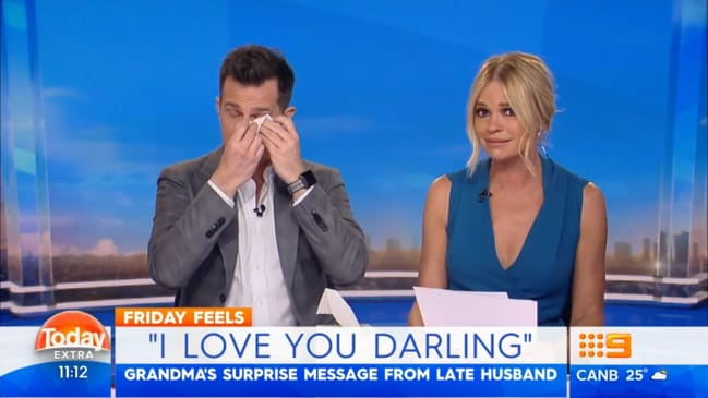 c57ce06380b Today Extra  David Campbell and Sonia Kruger in tears