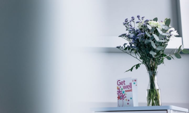 'They were the flowers from my husband's funeral.' Image: iStock.