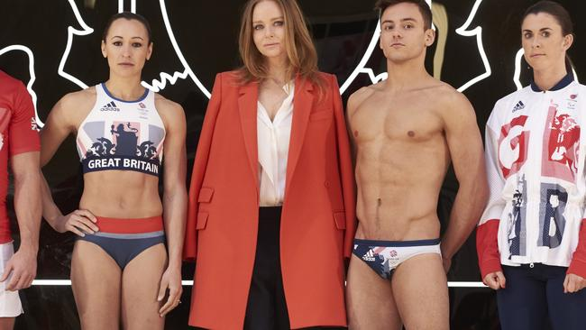 Creative Director Stella McCartney and Tom Daley with other athletes.