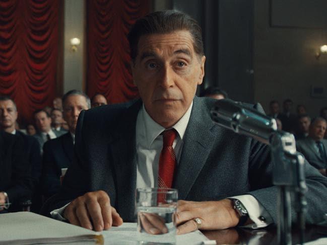 Al Pacino plays union boss Jimmy Hoffa in the movie.
