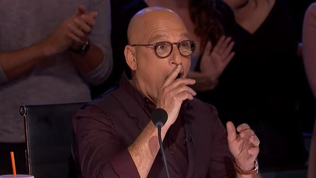 Judge Howie Mandel is loving Hans' performance. We think.