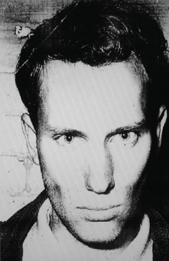 Derek Percy in his police mugshot after his 1969 arrest for the murder of Yvonne Tuohy. Picture: Supplied.