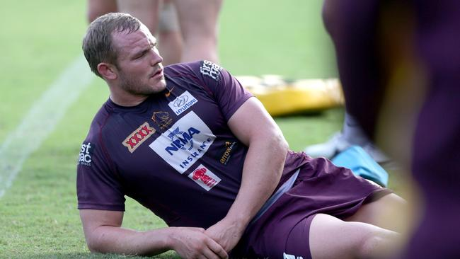 Martin Kennedy at Broncos training.