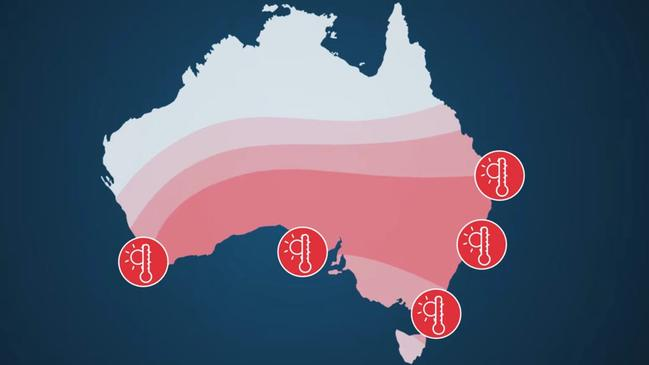 More heatwaves are possible in the south and east. Picture: BOM