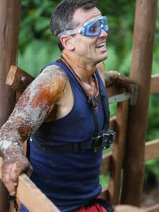 Paul Harrogan in the jungle. Picture: Nigel Wright, Channel Ten