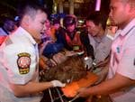 More than 100 people were injured in the blast with potentially dozens killed. AFP PHOTO / PORNCHAI KITTIWONGSAKUL