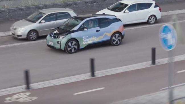 The company is using a fleet of BMW i3 hatchbacks to get passengers used to the idea of an electric car. Picture: Supplied.