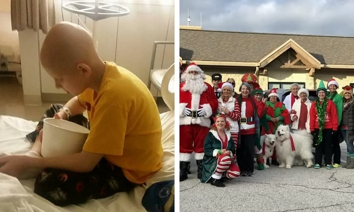 US town celebrates Christmas two months early for terminally ill boy