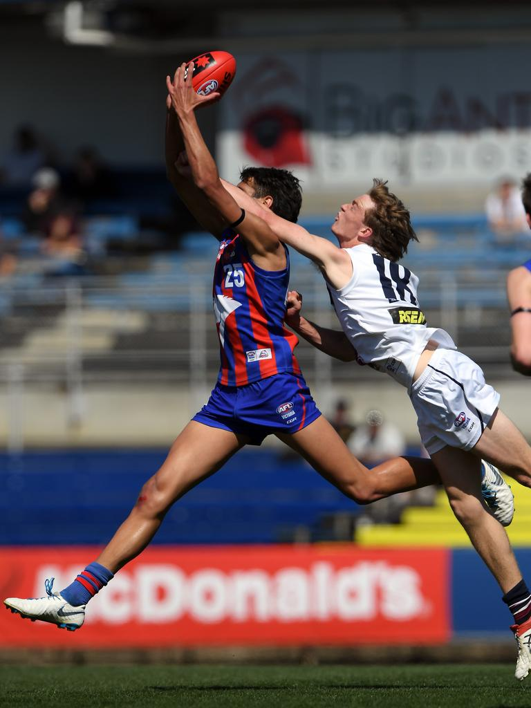 Jamarra Ugle-Hagan has been compared to Lance Franklin. Picture: Andy Brownbill
