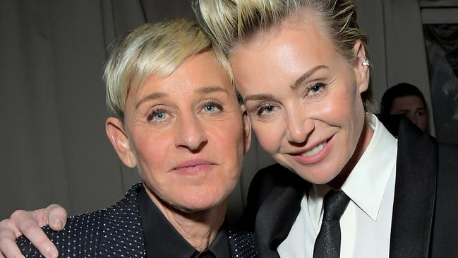 Ellen DeGeneres is married to Portia de Rossi. Picture: Charley Gallay/Getty Images for Netflix