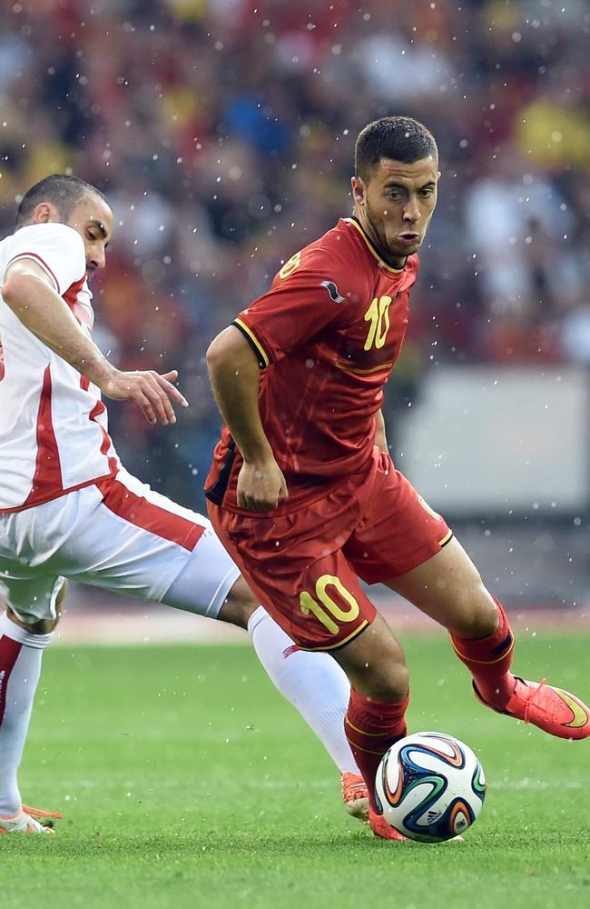 Belgium and Chelsea star Eden Hazard on the ball.