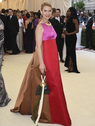 Claire Danes attends the 2018 Met Gala in New York City. Picture: AP
