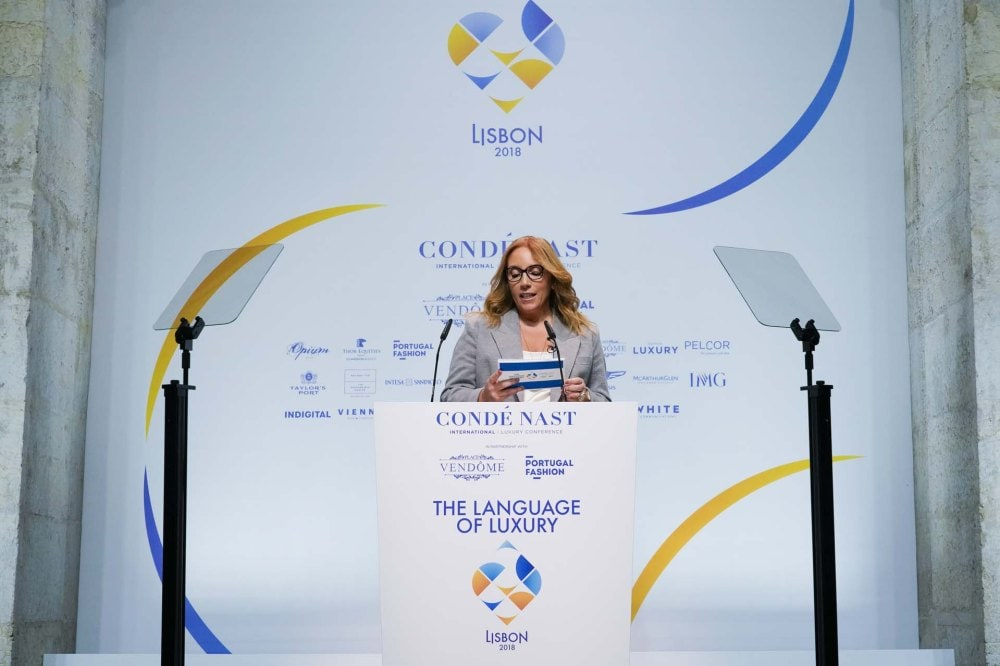 Paula Amorim at the CNI Luxury Conference in Lisbon. Image credit: Indigital