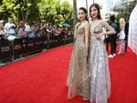 The Veronicas, Jess and Lisa Origliasso, pictured arriving on the red carpet at the 2015 ARIA Awards held at The Star in Pyrmont , Sydney. Picture: Richard Dobson