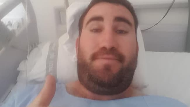 Josh will spend the next five or so days in hospital. Picture: Supplied