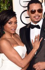 Taraji P. Henson (L) and Terrence Howard attend the 73rd Annual Golden Globe Awards held at the Beverly Hilton Hotel on January 10, 2016 in Beverly Hills, California. Picture: Jason Merritt/Getty Images