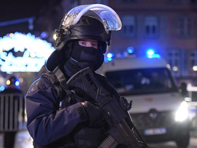 Police raided the home of the gunman just hours earlier. Picture: Frederick Florin/AFP