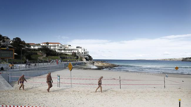 Bondi Beach is now open for swimmers and surfers. Picture: Ryan Pierse/Getty Images