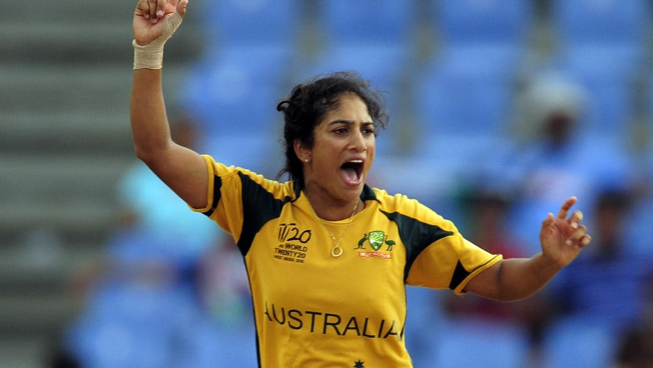 Lisa Sthalekar took over 200 international wickets and won four World Cups for Australia. Picture: AFP Photo/Emmanuel Dunand