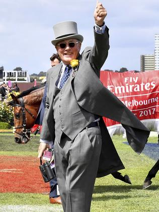 Williams sets the work for his horses at Macedon Lodge. Picture: AP