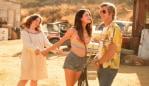 Qualley with co-stars Lena Dunham and Brad Pitt. Image: Sony