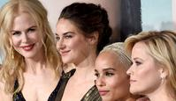 """HOLLYWOOD, CA - FEBRUARY 07: (L-R) Actors Laura Dern, Nicole Kidman, Shailene Woodley, Zoe Kravitz, and Reese Witherspoon attend the premiere of HBO's """"Big Little Lies"""" at TCL Chinese Theatre on February 7, 2017 in Hollywood, California.   Kevork Djansezian/Getty Images/AFP"""