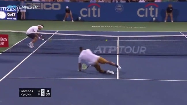 Nick Kyrgios produces one of the best points of his career (Tennis TV)