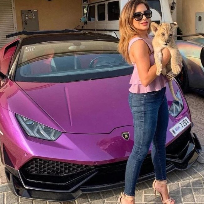 The CEO of Gulf Foil, a Dubai-based automotive foiling firm, shared the snaps with her 249,000 Instagram followers. Picture: Instagram / naataliaitani