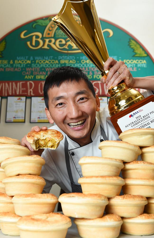 Country Cobb Bakery Baker/owner Chan Khun dreams of his winning pies. Picture: Josie Hayden
