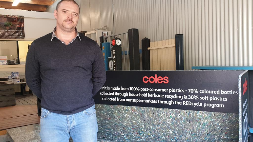 Replas (SA) agent Robbie Westley at his Norwood display centre. Picture: Colin James