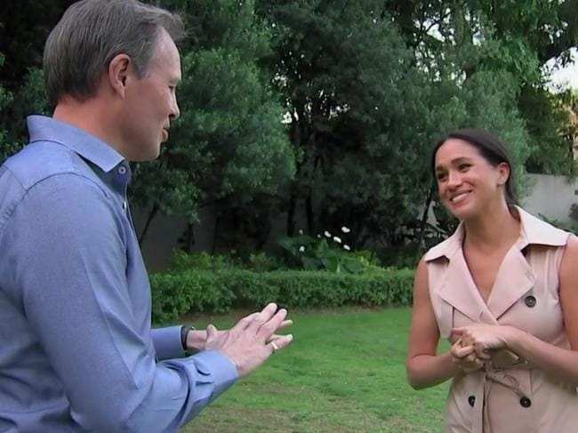 Tom Bradby's questions prompted an honest and heartbreaking response from Meghan. Picture: ITV
