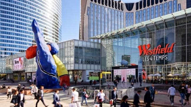 The newly renamed Westfield Les Quatre Temp shopping centre in Paris Picture: Westfield