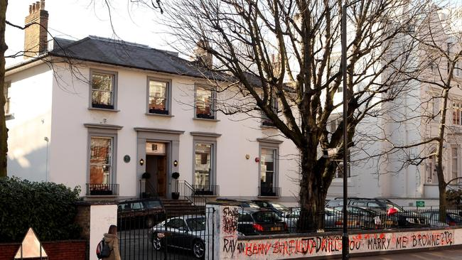 The Abbey Road recording studios in St John's Wood in London, England.