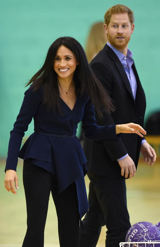 The Duke and Duchess of Sussex attend the Coach Core Awards held at Loughborough University. Picture: Eddie Mulholland