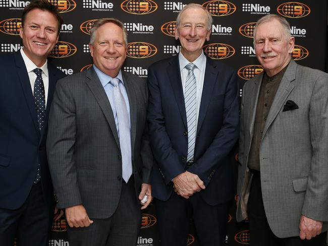 Ian Chappell with Channel 9 colleagues.
